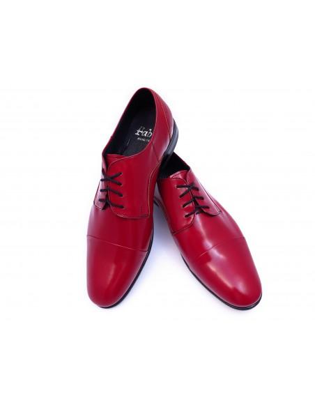 Czerwone półmatowe obuwie wizytowe T95