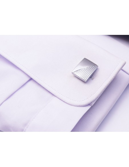 Prostokątne spinki do mankietów z imitacją cegiełki N71