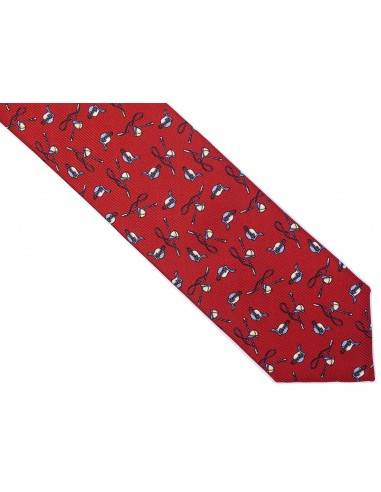 Jedwabny czerwony krawat dla dżokeja R21