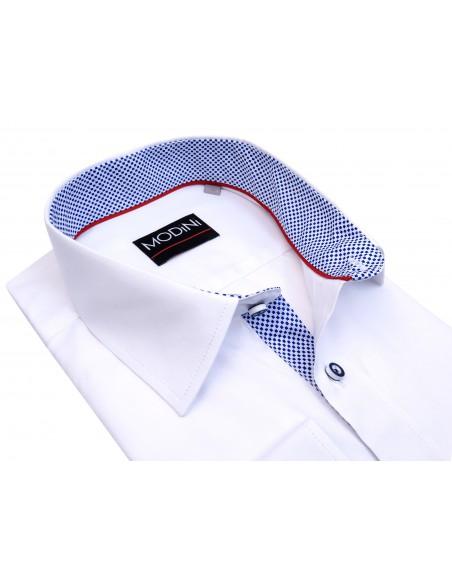 Biała koszula męska z długim rękawem A33