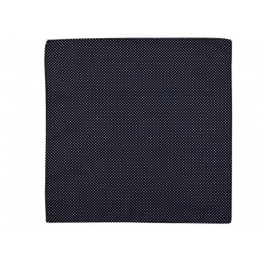 Czarna poszetka w białe kropki E166