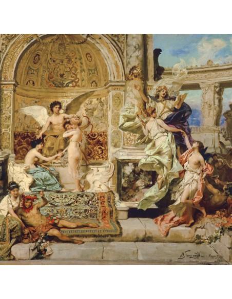 Poszetka z reprodukcją obrazu Henryka Siemiradzkiego E169
