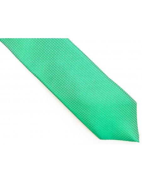 ZIelony krawat męski w mikrowzór D182