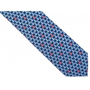 Niebieski krawat w kotwice D204