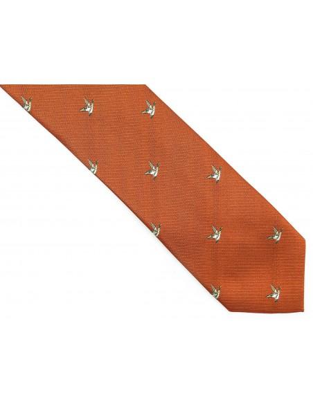 Miedziany krawat w kaczki D210