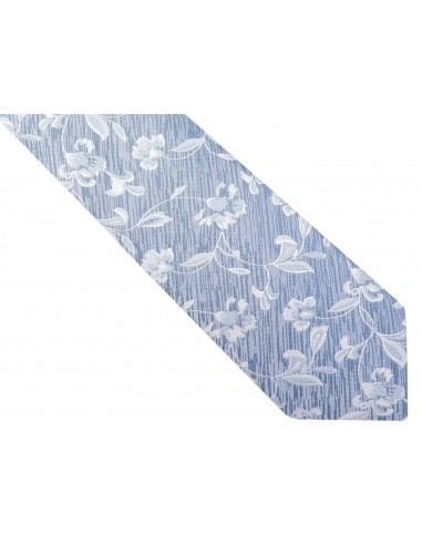 Niebieski krawat w kwiaty D221
