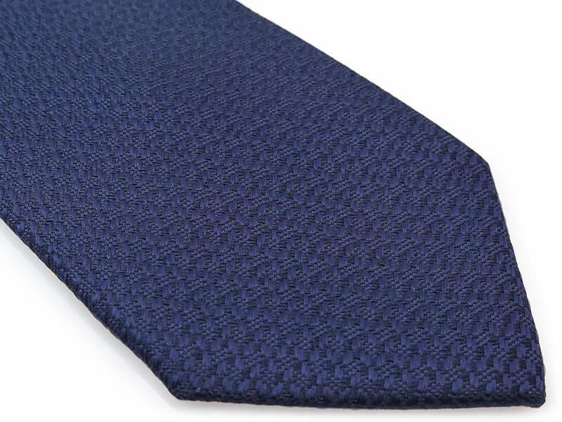 Granatowy krawat męski, strukturalny materiał D296