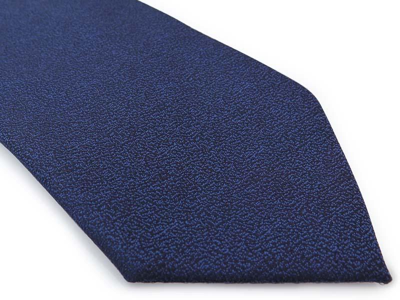 Granatowy krawat męski, strukturalny materiał D286