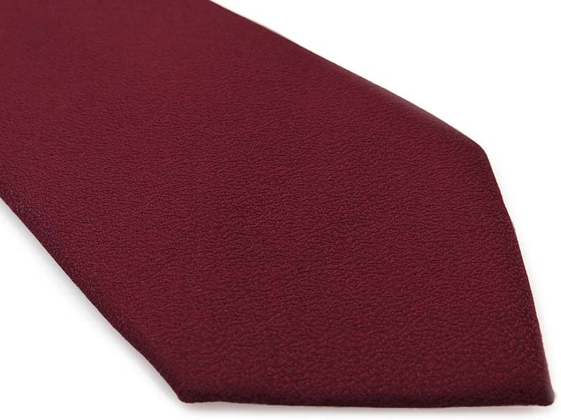 Bordowy gładki krawat męski, strukturalny materiał D288