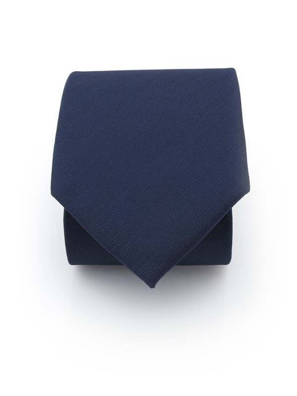 Granatowy krawat męski, strukturalny materiał - paski D289