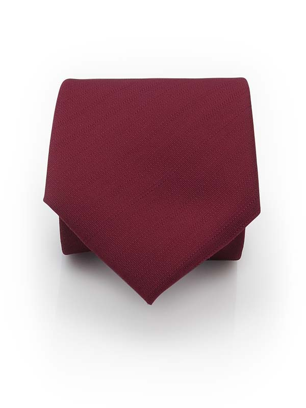 Bordowy krawat męski, strukturalny materiał D291