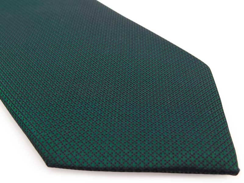 CIemnozielony krawat męski, strukturalny materiał D303