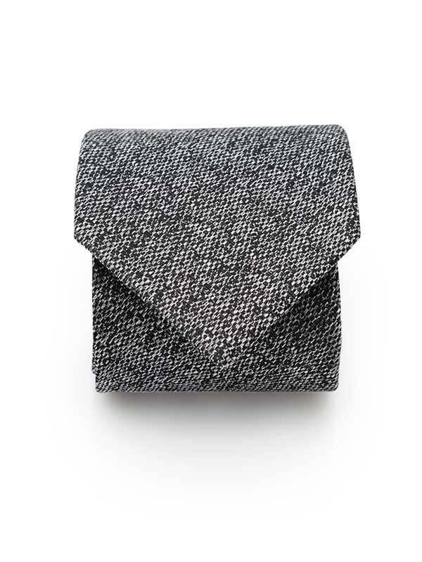 Krawat męski - szary melanż D304