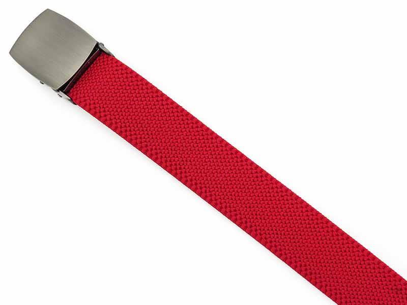 Czerwony elastyczny pasek do spodni z automatyczną klamrą PT5