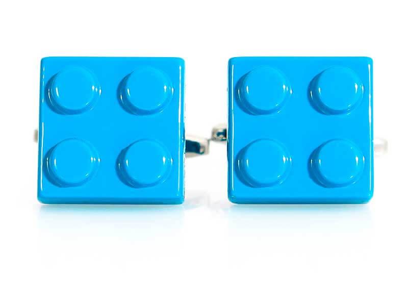 Spinki do mankietów - niebieskie klocki A231