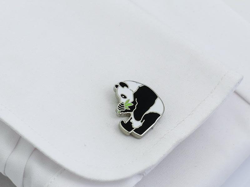 Spinki do mankietów - pandy A235
