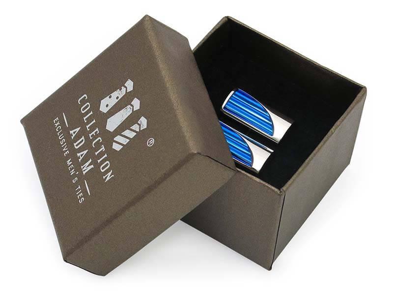 Niebieskie spinki do mankietów - kryształy A240