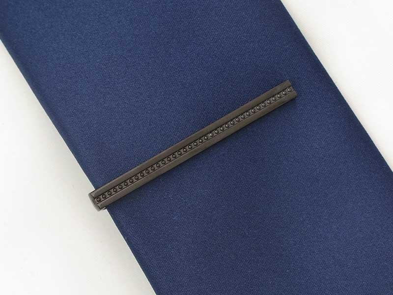 Grafitowa spinka do krawata ZS47