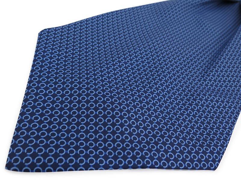 Granatowy fular w niebieski wzór F129
