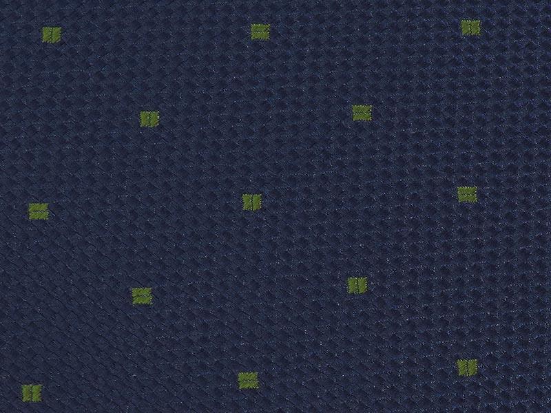 Granatowy fular w zielone kwadraciki F131