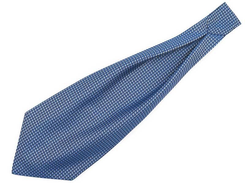 Niebieski fular w geometryczny wzór - romby F136