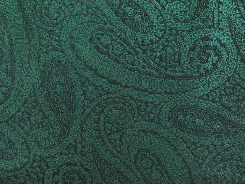 Zielony fular w paisley F137