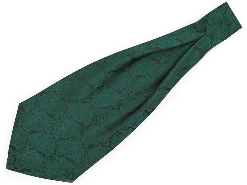 Zielony fular w paisley F141