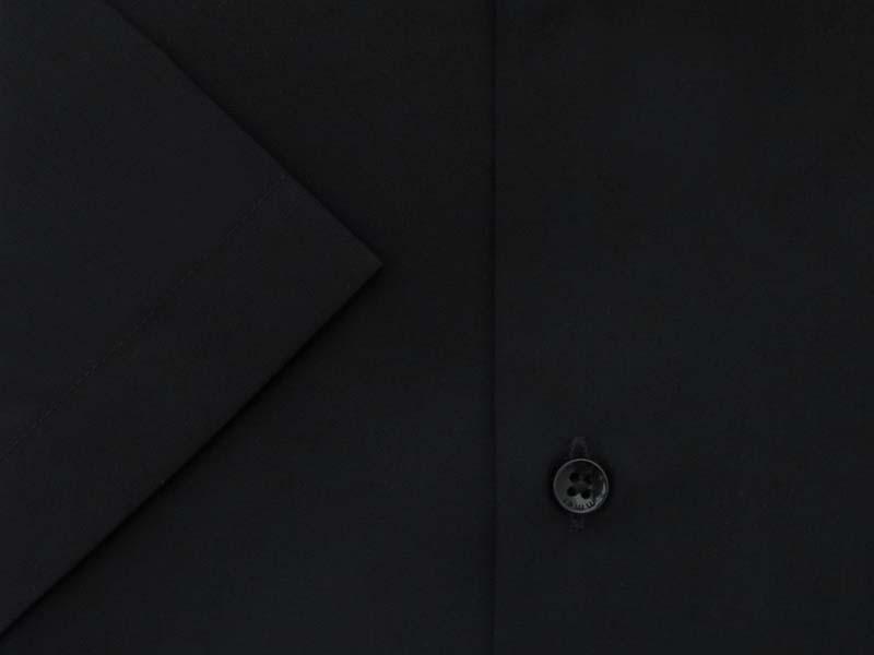 Czarna koszula na krótki rękaw 006K