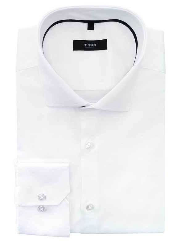 Biała koszula męska z długim rękawem Mmer 007
