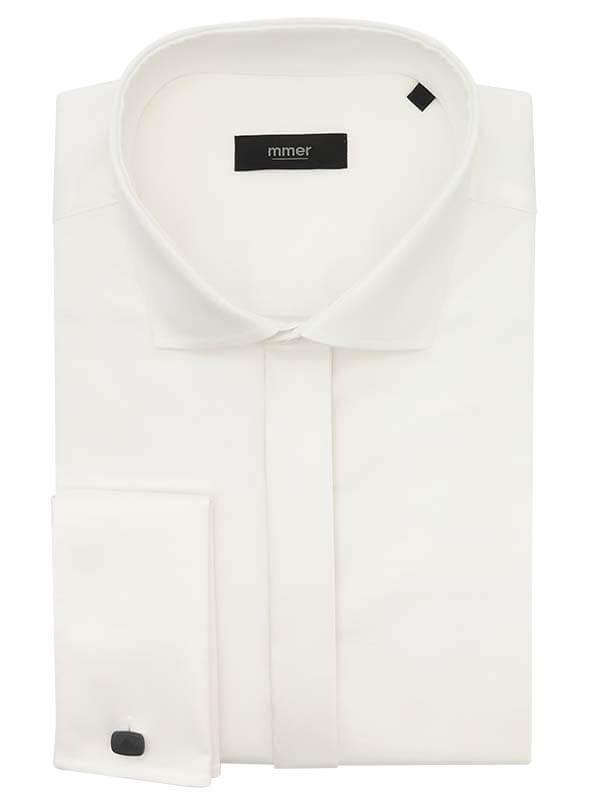 Koszula na spinki Mmer - ecru/ivory 065
