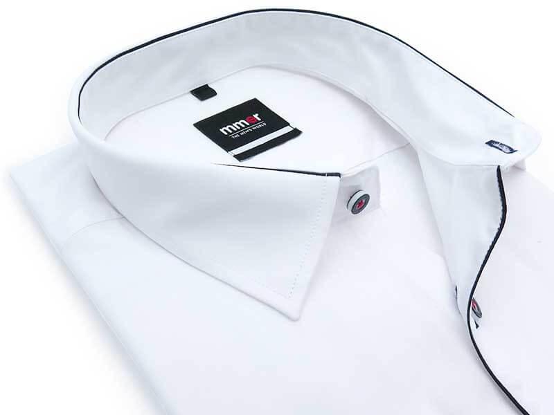 Biała koszula Mmer z granatową lamówką 131