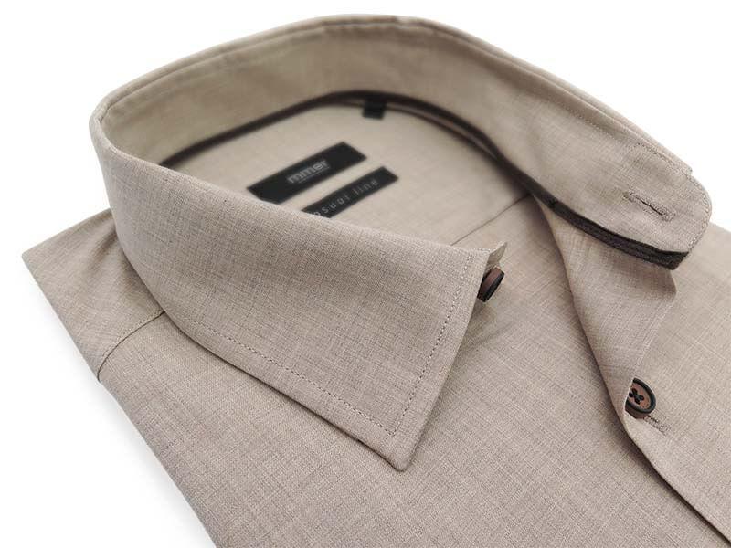 Koszula z długim rękawem w kolorze beżowym/khaki D025