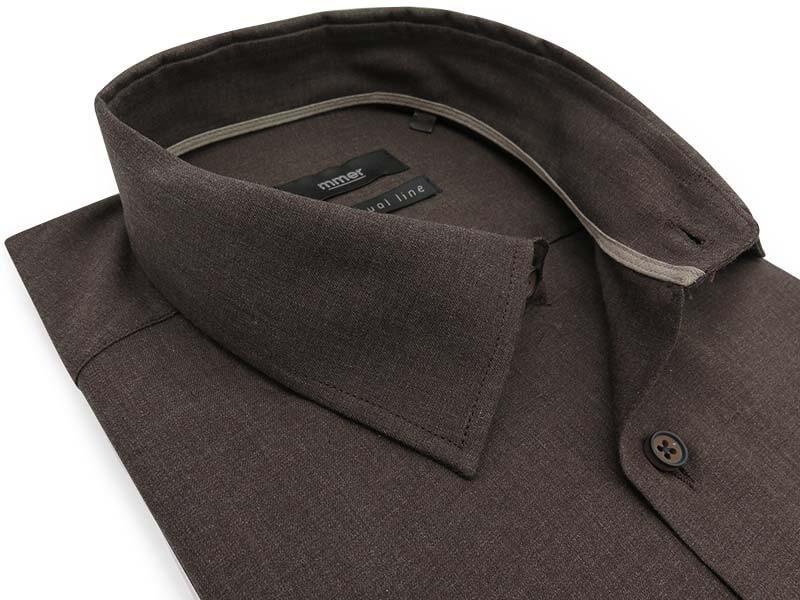 Brązowa koszula z długim rękawem D027