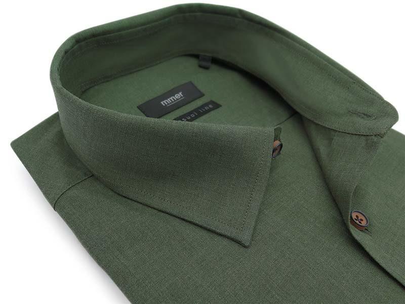 Zielona koszula z długim rękawem D028