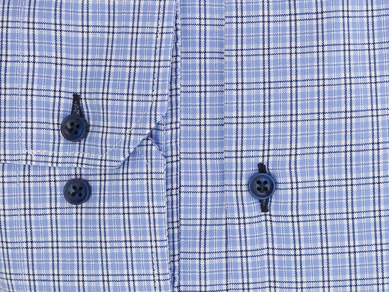 Błękitna koszula w kratkę A46