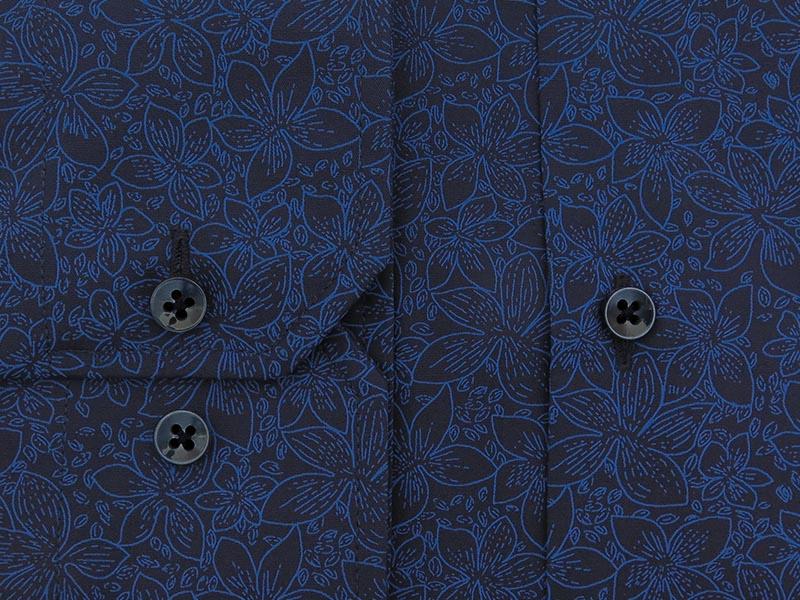 Granatowa koszula w kwiaty Y22