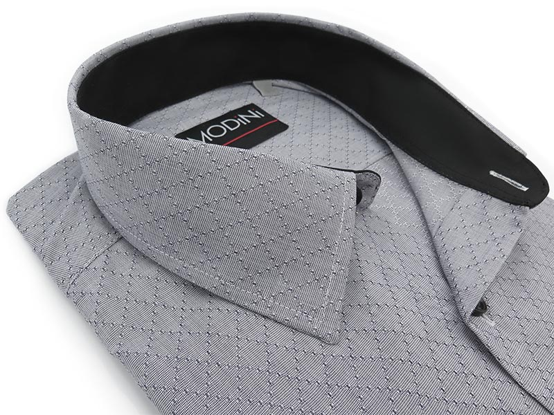 Szara koszula w kratkę Y23