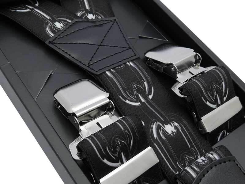 Ciemne szelki do spodni - łańcuch SZ124