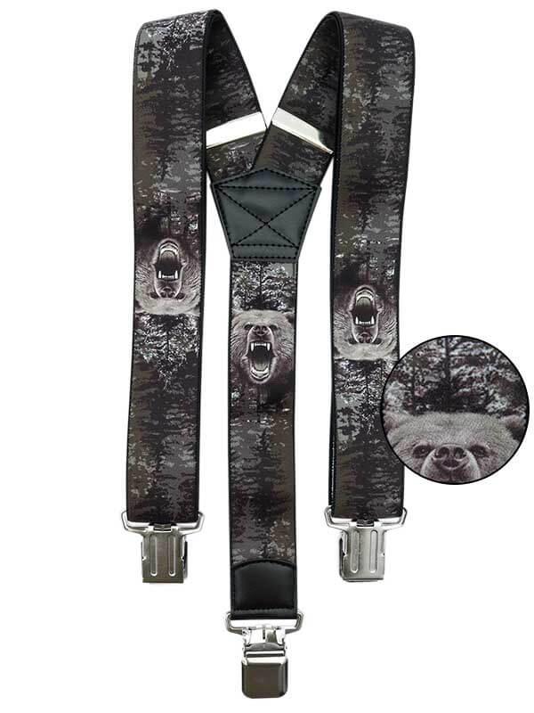 Szare szelki do spodni - niedźwiedzie SZ127