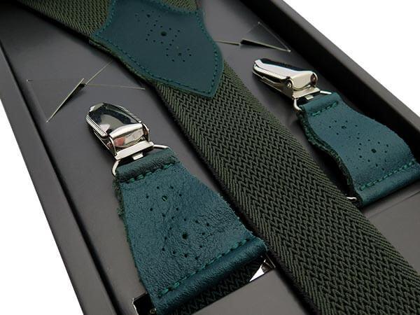 Zielone szelki z ażurowymi skórkami SZ130