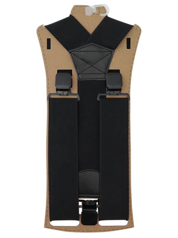 Szerokie czarne szelki męskie do spodni T15