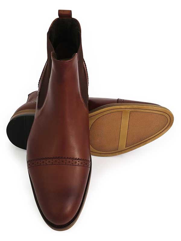 Modne brązowe męskie buty zimowe - sztyblety BZ10