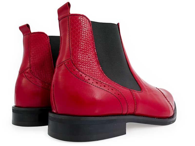 Modne czerwone męskie buty zimowe - sztyblety BZ9