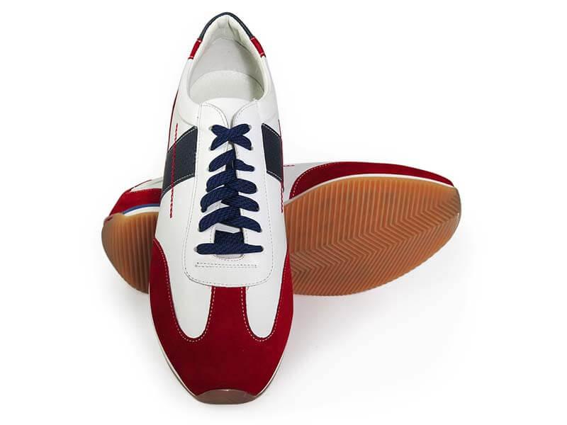 Biało-czerwono-granatowe obuwie sportowe, sneakers T140
