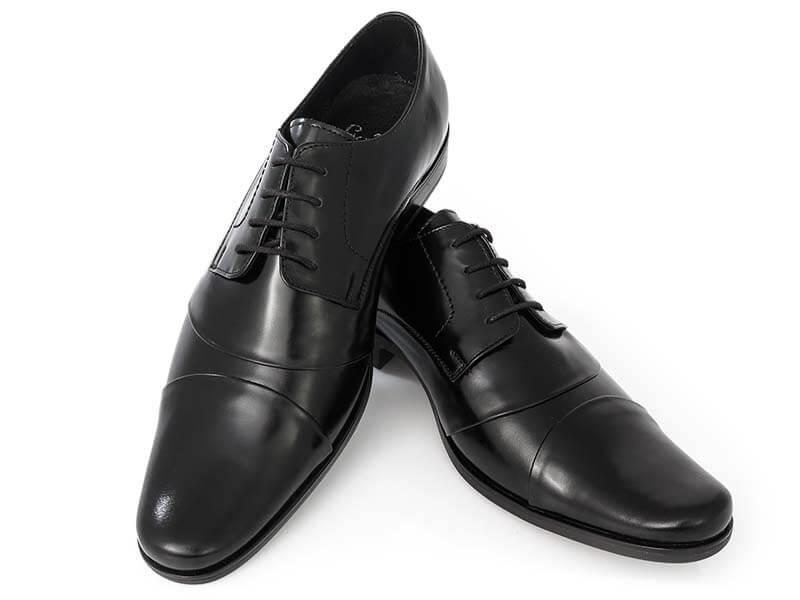 Wygodne czarne eleganckie buty męskie T33
