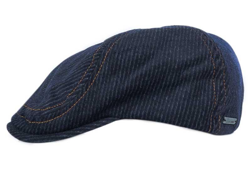 Granatowy kaszkiet/czapka z nausznikami G25