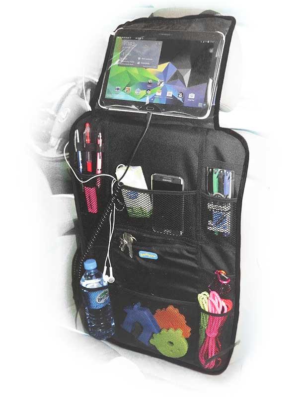 Organizer samochodowy z kieszenią na tablet - ochraniacz na tył fotela OS1