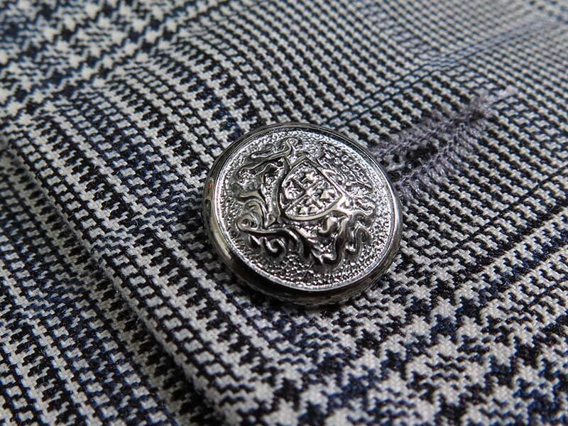 Elegancka szara kamizelka w kratę księcia Walii K8