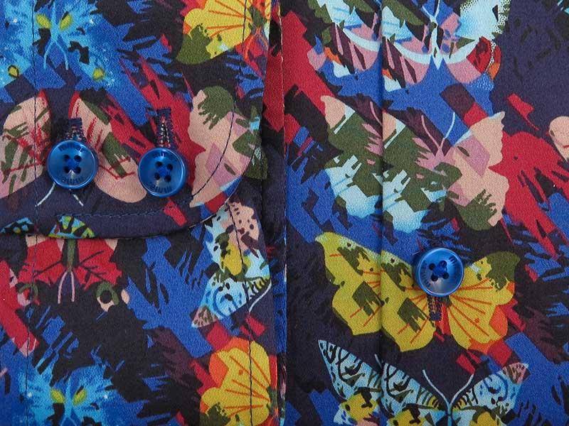 Kolorowa koszula w motyle C135