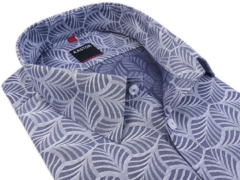 Szara koszula męska wei wzór K63